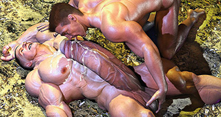 GAY MUSCLE PORN 3D
